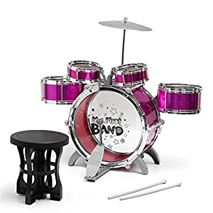 buy barodian 39 s music jazz drum set big size musical drum set with 5 drums cymbal and chair. Black Bedroom Furniture Sets. Home Design Ideas