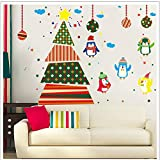 Best Wall Pops Friends On Dvds - Creative Wall Stickers Tree Penguin Cartoon Decoration Window Review