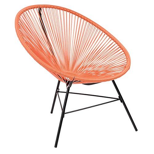 Bentley Garden - Chaise de jardin/salon - style rétro - rotin synthétique - Orange