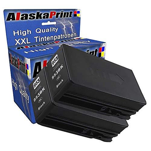 2x Druckerpatrone kompatibel mit HP 953 XL 953XL Schwarz Black BK für OfficeJet Pro 7740 WF 8200 Series 8210 8216 8218 8710 8715 8718 8719 8720 8725 8730 8740 8728 Tinte Drucker Patrone Tintenpatronen