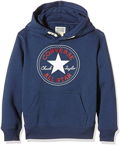Converse Core Pullover Hoodie-cappuccio Bambino, Azul (Converse Navy W/Red), 2-3 anni (Taglia Produttore: 2-3Y)