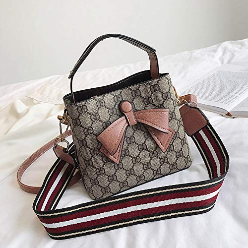 LFGCL Bags womenPrint Schultertasche Bow Tote Wide Ribbon Strap, Pink (Pink Sonnenbrille Ribbon)