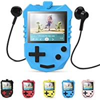 8 GB MP3 Player für Kinder, tragbarer 1,8 TFT Farbbildschirm Musik-Player mit eingebautem Lautsprecher, FM-Radio, Sprachaufnahme, Puzzle-Spiele, unterstüzt bis zu 128 GB Speicherkarte, AGPTEK K1, Blau