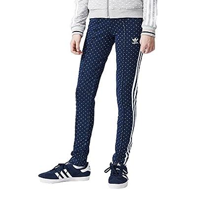 adidas Pants - Junior Denim blue/white