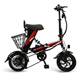 12 Zoll Elektrisches Faltrad,LED Batterie-Licht, Quick-Fold-System, Klappfahrrad,48V 350w,mit 30-60 Km Reichweite,The ecological electric bicycle that is suitable for urban routes,Blacksingle,48V12Ah