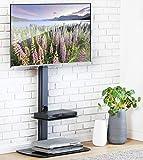 FITUEYES Meuble TV avec Support CantileverTélé Pied Pivotant pour Ecran de 32 à 65...