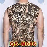 2 Confezioni 1 unità 48 * 34cm Adesivi Schiena Grande Tatuaggio cantante Buddha Body Painting QSM006 48cm * 34cm