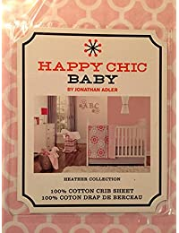 cc03d823717 Jonathan Adler Happy Chic Baby Heather Pink   White Fited Crib Sheet By Jonathan  Adler