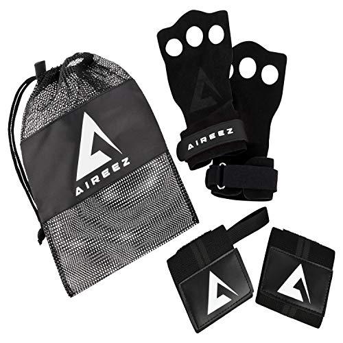 cfff806d8e453f Aireez 2 in 1 Crossfit - Fitness Handschuhe & Handgelenk Bandagen Set für  Damen & Herren