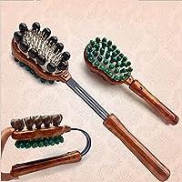 Preisvergleich für BMDHA MassagegeräT NackenmassagegeräT Stahlnadel Holz Einstellbar Schulter, Taille, Beine Massage
