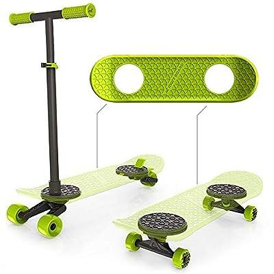 Jakks Pacific 76055-11L MORF Board 2 in 1 Skateboard/Roller, Mehrfarbig
