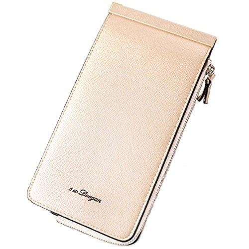 Borsa di cuoio reale della borsa della borsa della borsa del cuoio reale delle signore delle donne nuovo, borsa di viaggio di cuoio di lusso (bianco) Beige