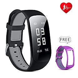 Lio Shaar Fitness Tracker, Smart Watch Actitity Tracker With Heart Rate Monitor Step Pedometer Sync Sports Data For Android & Ios