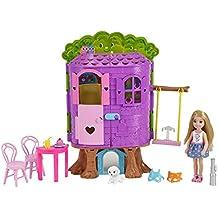 Barbie FPF83 - la Casa Sull'Albero di Chelsea - con Bambola Inclusa - Due Piani e Accessori