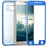 kwmobile Funda para Samsung Galaxy J5 (2016) DUOS - Carcasa [Doble] de [TPU] - Case de [ambas Caras] para móvil en [Azul Metalizado]