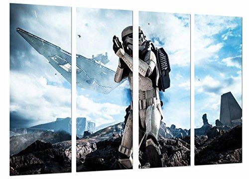 (Modernes Wandbild fotografico Star Wars Darth Vader, Armee Schlacht Schiff, Rougue One, 131x 63cm, Ref. 27093)