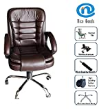 Nice Goods Leatherette Office Arm Chair (Brown)