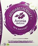 Aronia Original Bio Aroniasaft 100% Direktsaft, 1er Pack (1 x 5 l) (Bild: Amazon.de)