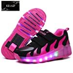 KE Unisex Kids Led Light Wheels Cool...
