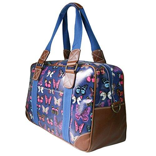 Miss Lulu , Damen Tote-Tasche Butterfly Navy Set