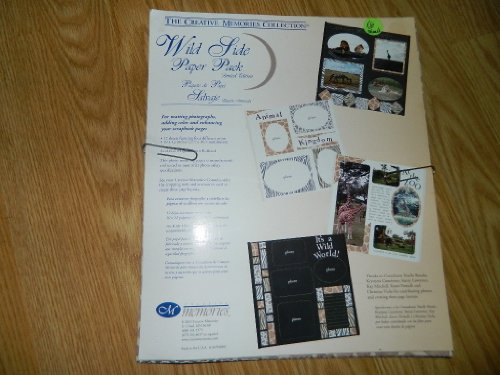 Creative Memories Wild Side Paper Pack - Zebra, Giraffe, Tiger, Leopard Print - 12 sheets of 10 x 12 by Creative Memories
