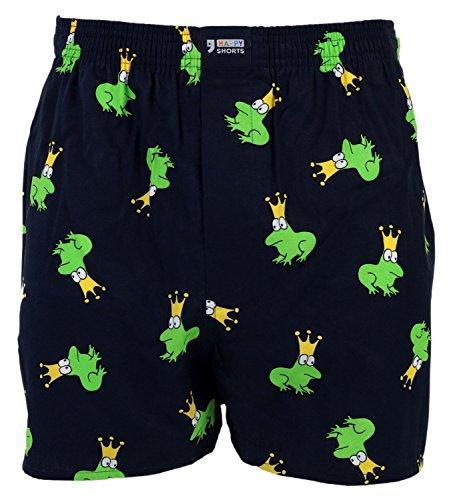 Happy Shorts Webboxer Herren Boxer Motiv Boxershorts Farbwahl, Grösse:M - 5-50, Präzise Farbe:Design 1