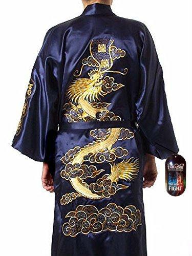 robe-de-chambre-kimono-pour-homme-motif-dragon-dore-brode-bleu-marine-taille-unique