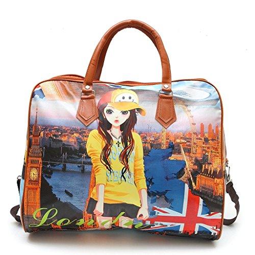 Jubination Women Elegant Handheld Digital Print Casual Hobo Shopping Carry Hand Bag