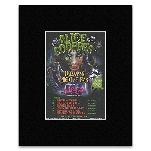 ween Night Of Fear Matted Mini Poster - 13.5x10cm (Alice Cooper-halloween)