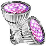 GreenSun LED Lighting 2er Pflanzenlampe E27 30W LED Pflanzenlicht Wachstumslampe Tageslicht Pflanzenleuchte für Garten Gewächshaus Zimmerpflanzen, Blüte, Blumen, Gemüse