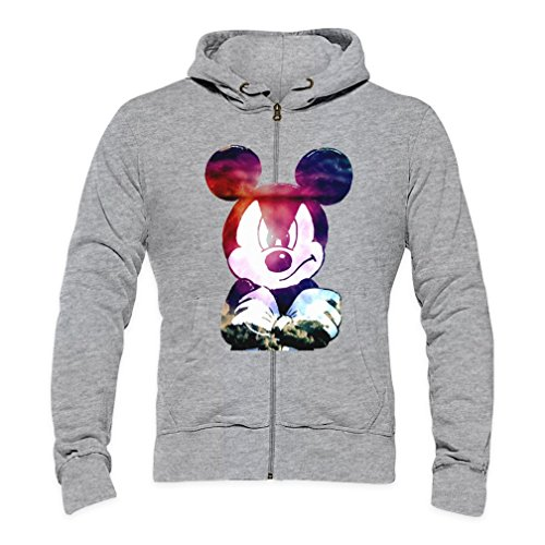 Galaxy Angry Mickey Mouse Mens Zipper Hoodie Large