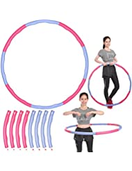 ReaseJoy Detachable Hula Hoop Foam Padded Circle Waist Slimming Weight Loss Fitness Exercise 1kg 95cm Wide
