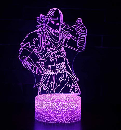 3D Lámpara de Escritorio Win-Y LED 7 del tacto del color de la lámpara del dormitorio del hogar decoración de la oficina para los niños y regalo de Navidad de cumpleaños (Predator)