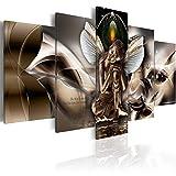 murando - Bilder 200x100 cm - Vlies Leinwandbild - 5 Teilig - Kunstdruck - Modern - Wandbilder XXL - Wanddekoration - Design - Wand Bild - Buddha Abstrakt h-A-0008-b-n