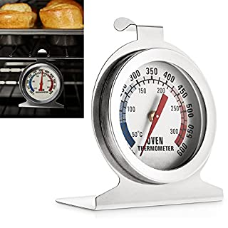 AVESON Stainless Steel Dial Oven Thermometer Monitoring Temperature Gauge For Home Kitchen - Hang or Stand in Oven