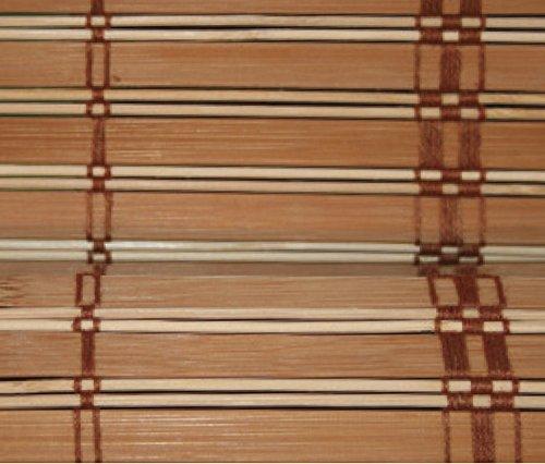 Verdelook 223047 africa, tapparella in listelli di bamboo, dimensioni 100x160cm, marrone chiaro