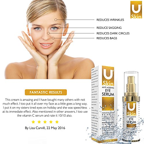 PREMIUM Anti Ageing Eye Serum for Dark Circles & Puffiness – The Best Anti Wrinkle Eye Serum – Clinical Strength – Reduces Wrinkles, Bags, Saggy Skin & Puffy Eyes! High Quality Ingredients – Q10 – Matrxyl 3000 – Great Eye Treatment For All Types Of Skin. 100% Satisfaction or Your Money Back Guarantee.