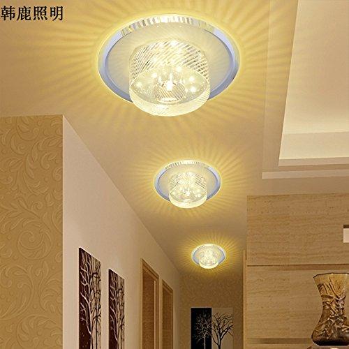 Crystal LED-Licht Flur Eingangsbereich der Halle leuchtet leuchtet Balkon Decke Home Deckenleuchten,violett -
