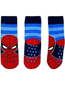 Marvel Rutschfeste Socken Jungen Spiderman 2-7 Jahre Baumwolle Blau Schwarz Rot Disney Avengers
