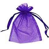 100 ORGANZA BAGS 7CM X 9CM WEDDING FAVOUR BAGS, GIFTS, JEWELLERY, FAVOURS, 15 COLOURS AVAILABLE*UK SELLER*