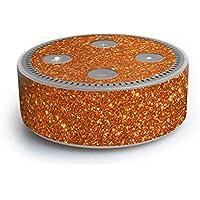 atFoliX Amazn Echó Dot (2. Generation) Skin FX-Glitter-Orange-Juice Designfolie Sticker - Reflektierende Glitzerfolie