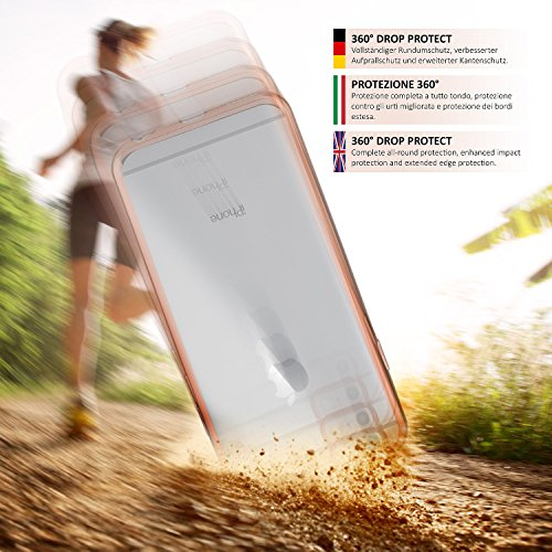 iPhone 4S Hülle Silikon Transparent Silber [OneFlow Chrom Back-Cover] Silikonhülle Dünn Schutzhülle Handyhülle für iPhone 4/4S Case Ultra-Slim Tasche TPU ROSE