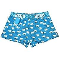 Bóxer Cómodo Calzoncillos Para Hombre Ropa Interior De Fibra De Bambú Sello De Elefante Grandes Números De Casa Dormir Pantalones Pantalones De Cintura Baja Transpirable Confort 1 Doble, Serie Azul L