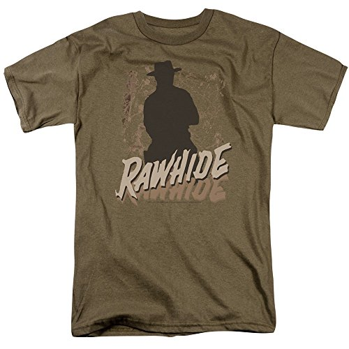 Rawhide - Adult-Safari-Grün Kurzarm T-Shirt für Männer, X-Large, Safari Green -