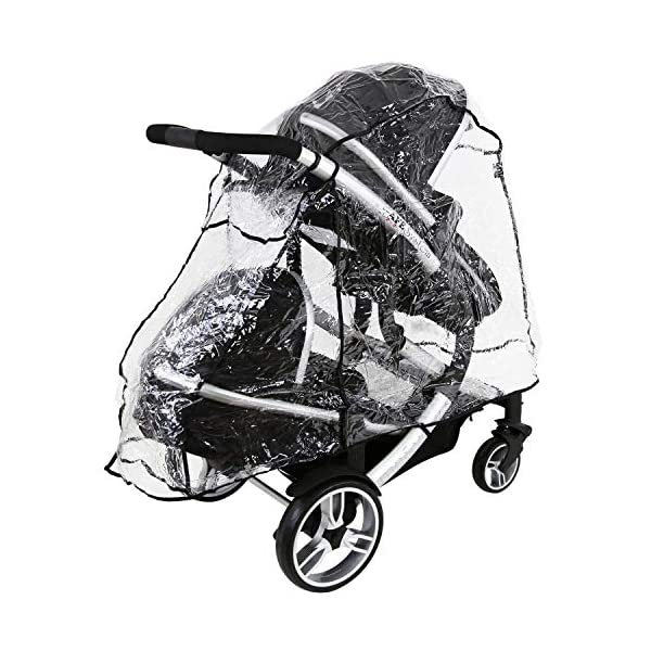 iSafe Me&You Inline Tandem Travel System with Second Seat & Rain Cover - Royal Blue iSafe Sleek & Eye Catching Matte Black Chassis, Weighing Only 16Kgs Easy One Second Fold, For Those Parents On The Go Soft Grip Extendable 3 Height Handle, To Suit Parents Of Any Height 8