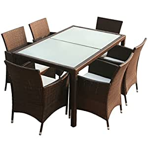 vidaxl gartenm bel 13tlg poly rattan braun sitzgruppe. Black Bedroom Furniture Sets. Home Design Ideas
