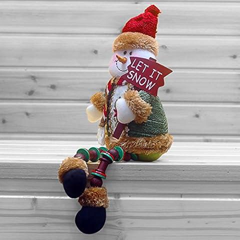 BXT Weihnachtspuppen Weihnachtsschmuck Plüsch Flanell Spiegelzeug Indoor Deko Party Stoffpuppe Sitzung Weihnachtsmann (Weihnachten Angefüllte Spielwaren)