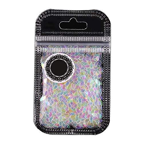 Flakes exquis Paillettes semi-transparente Mermaid Glitter Nail Étincelle ronde Glitter manucure feuilletés décoration de style B