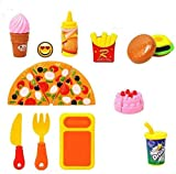 #9: SmartPick 12 pcs Pizza Burger Fast Food Set, Kitchen Role, Restaurant Role Pretend Play Toy for Kids