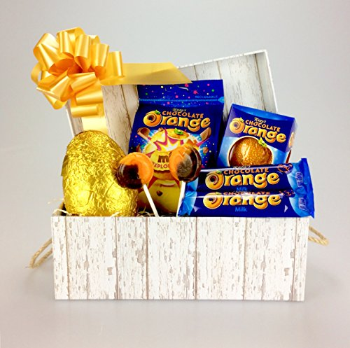 Happy TERRY'S Chocolate ORANGE Easter Ultimate HAMPER Including JOSEPH DOBSON. LOLLIES & a Milk Chocolate Easter Egg. Female or Male themed Unique Gift